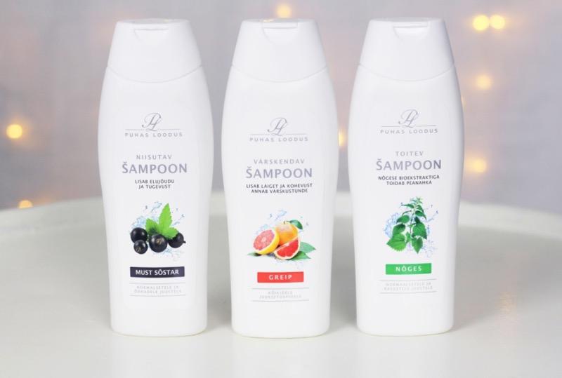 Puhdas loodus mustaherukka ja greippi ja nokkos kosteuttava shampoo kuva